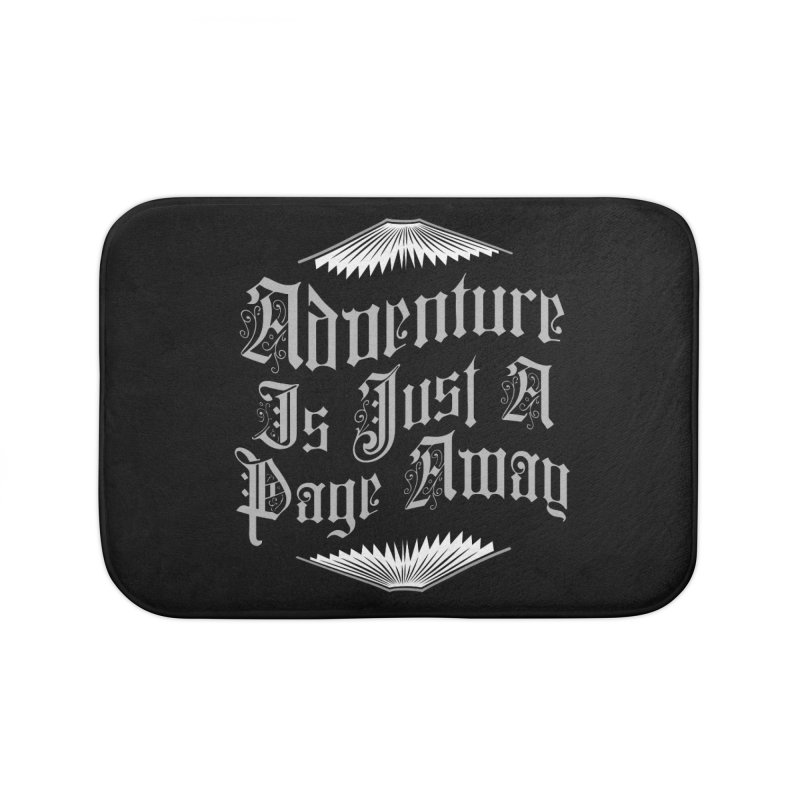 Adventure Is Just A Page Away Home Bath Mat by Grandio Design Artist Shop