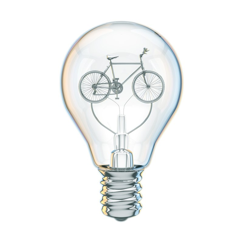 Light Bicycle Bulb by Grandio Design Artist Shop