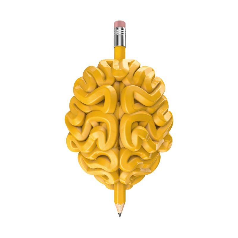 Pencil Brain   by Grandio Design Artist Shop