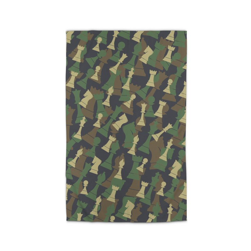 Chess Camo WOODLAND Home Rug by Grandio Design Artist Shop