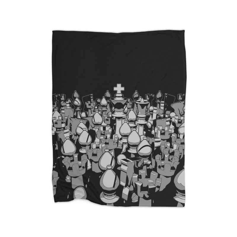 The Chess Crowd Home Blanket by Grandio Design Artist Shop