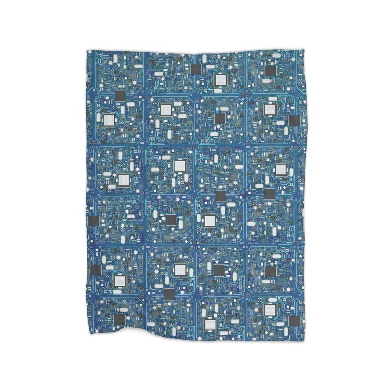Ultimate Circuit Board Home Blanket by Grandio Design Artist Shop