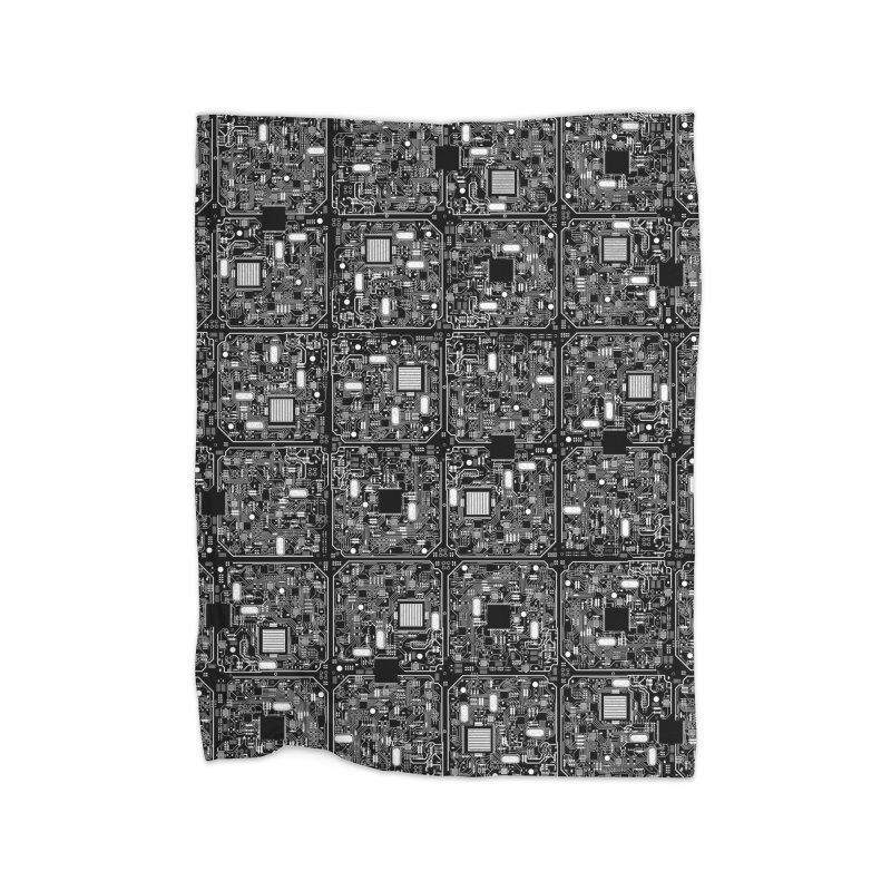 Serious Circuitry Home Blanket by Grandio Design Artist Shop