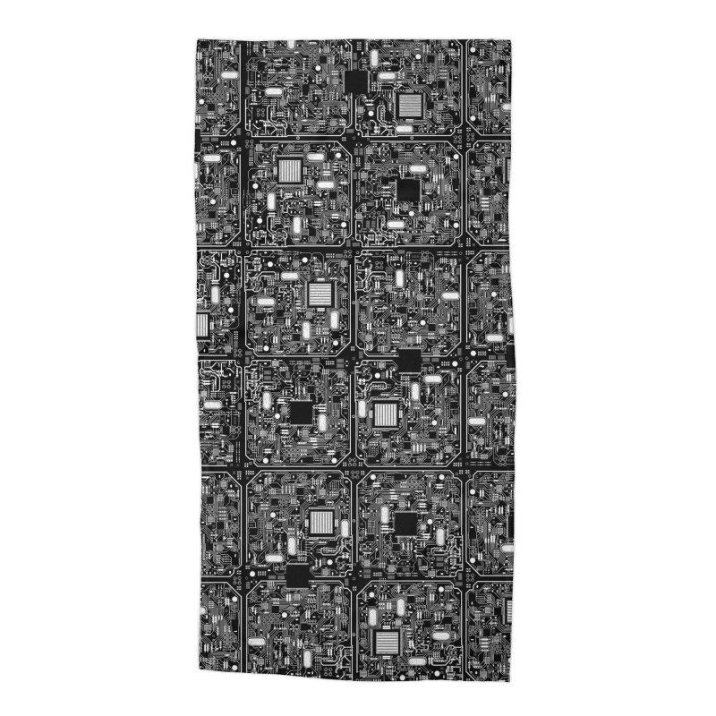 Serious Circuitry Accessories Beach Towel by Grandio Design Artist Shop