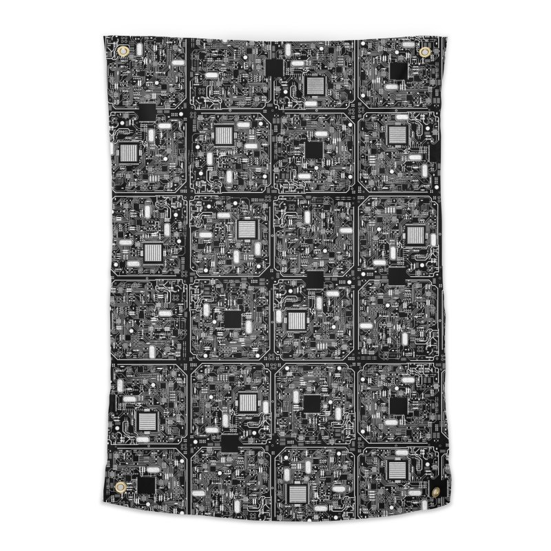 Serious Circuitry Home Tapestry by Grandio Design Artist Shop