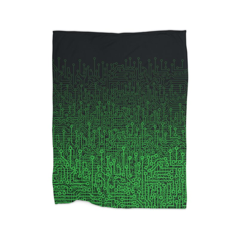 Reboot II GREEN Home Blanket by Grandio Design Artist Shop