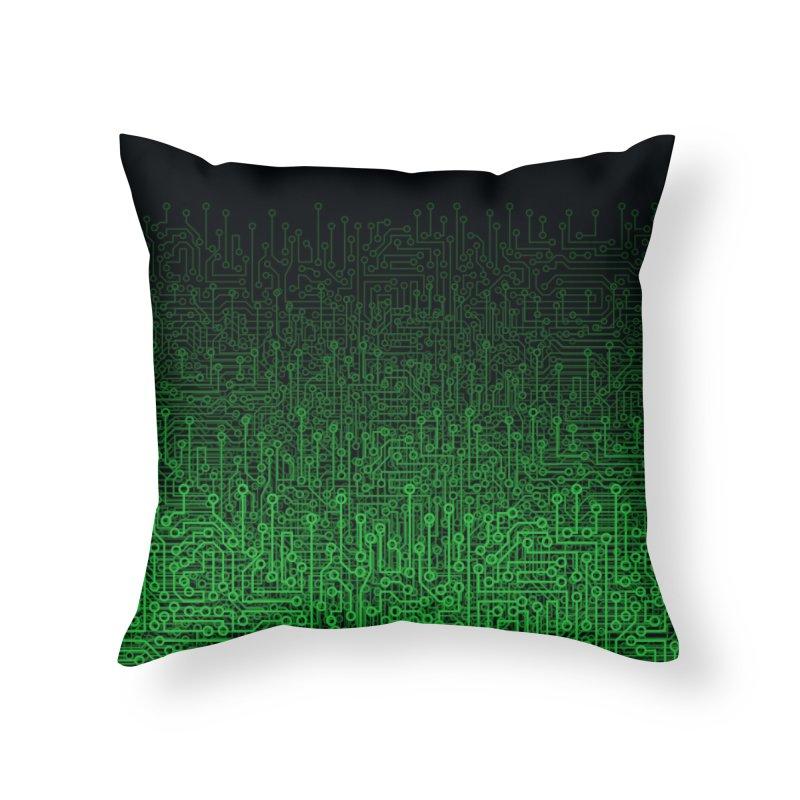 Reboot II GREEN Home Throw Pillow by Grandio Design Artist Shop