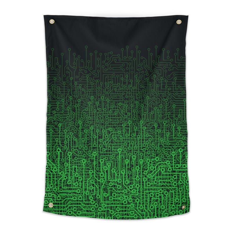 Reboot II GREEN Home Tapestry by Grandio Design Artist Shop