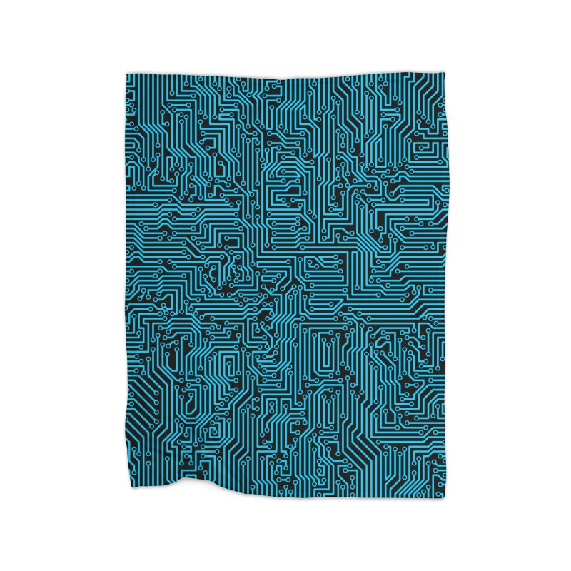 Reboot BLUE Home Blanket by Grandio Design Artist Shop