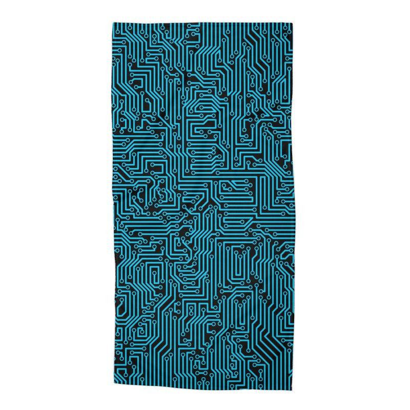 Reboot BLUE Accessories Beach Towel by Grandio Design Artist Shop