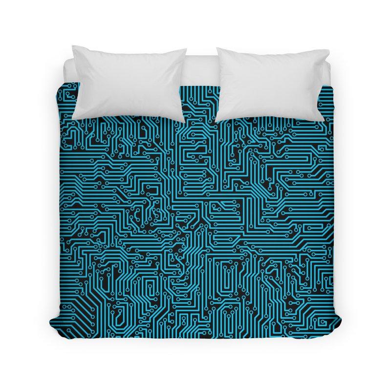 Reboot BLUE Home Duvet by Grandio Design Artist Shop