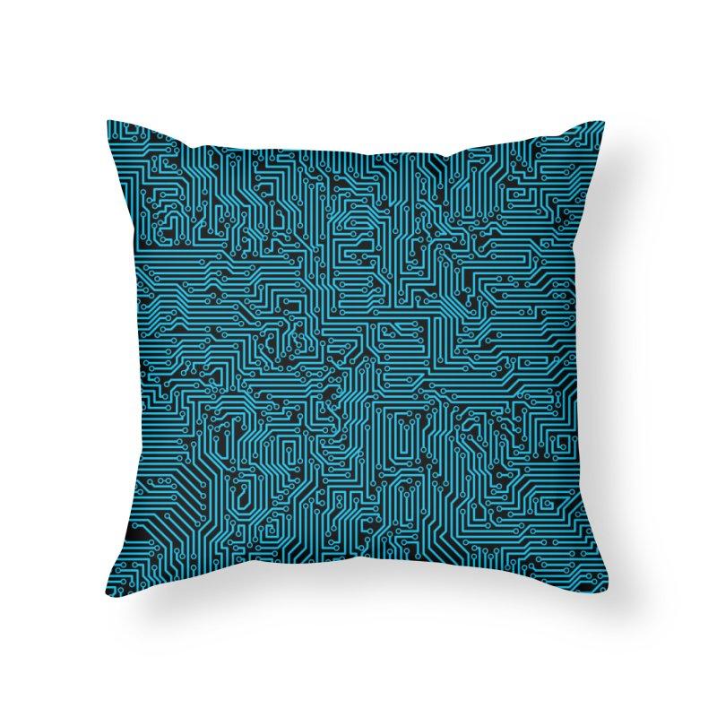 Reboot BLUE Home Throw Pillow by Grandio Design Artist Shop