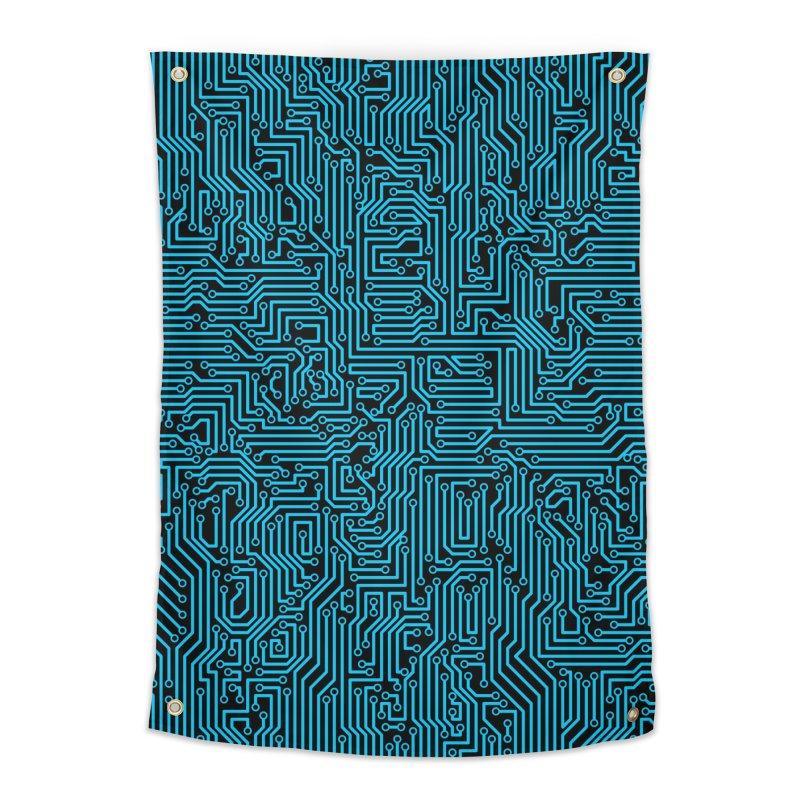Reboot BLUE Home Tapestry by Grandio Design Artist Shop