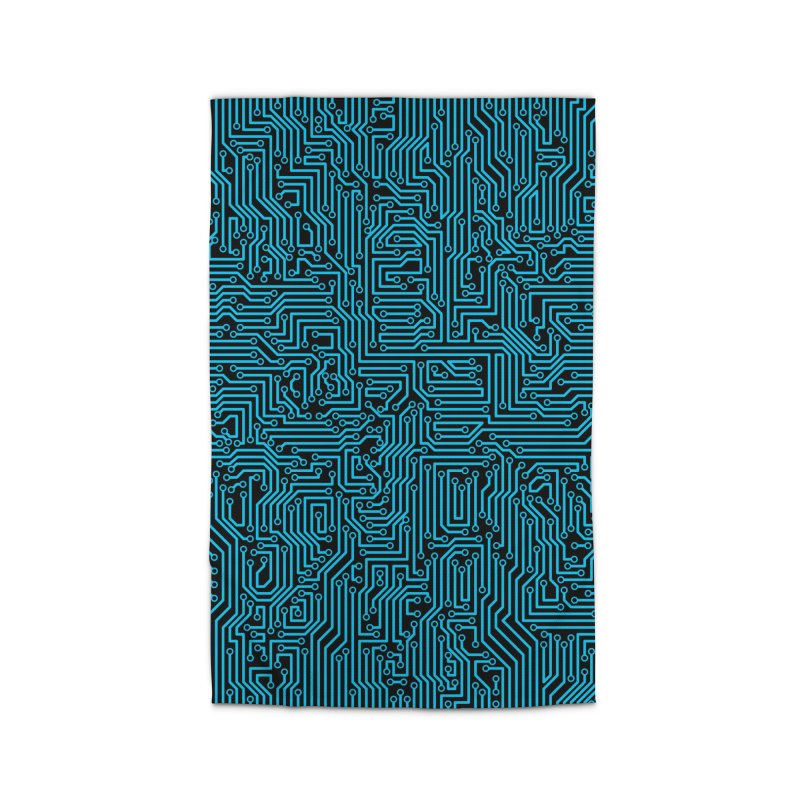 Reboot BLUE Home Rug by Grandio Design Artist Shop