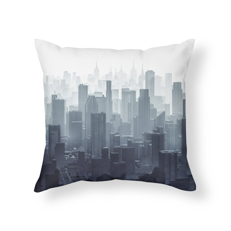 City Haze Home Throw Pillow by Grandio Design Artist Shop