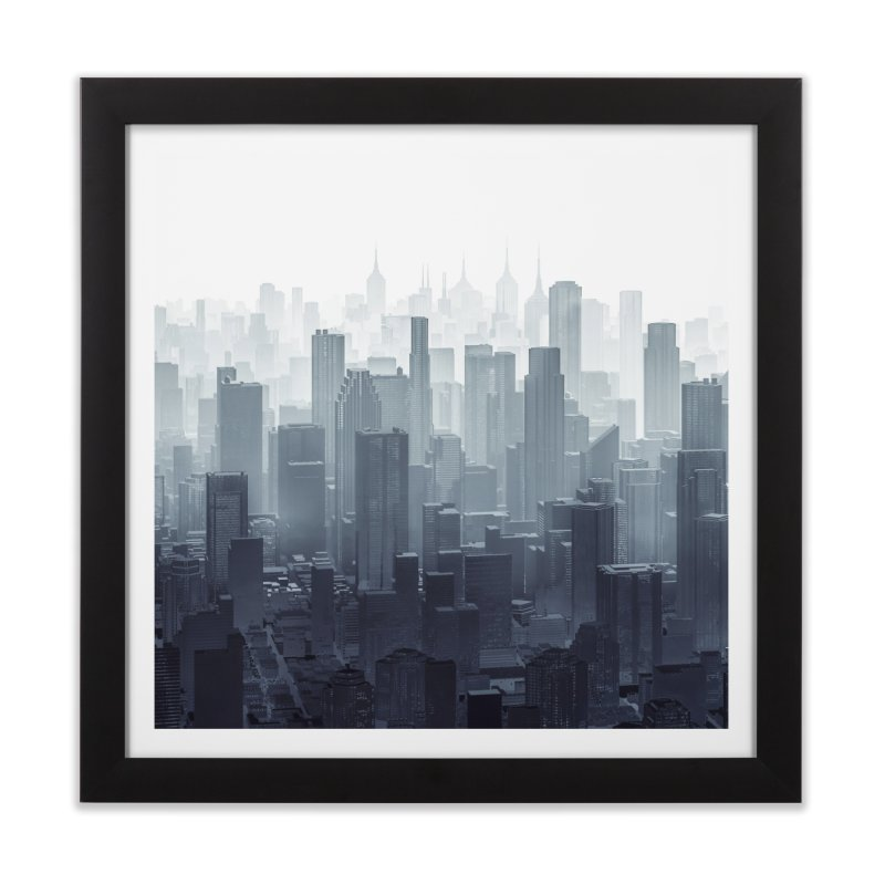 City Haze Home Framed Fine Art Print by Grandio Design Artist Shop