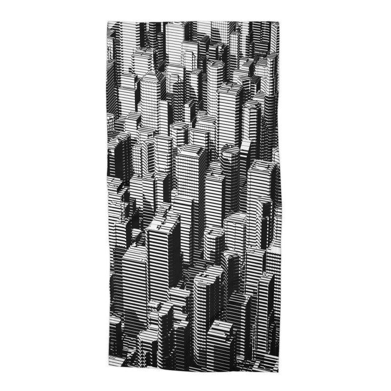 Urban Lines B&W Accessories Beach Towel by Grandio Design Artist Shop