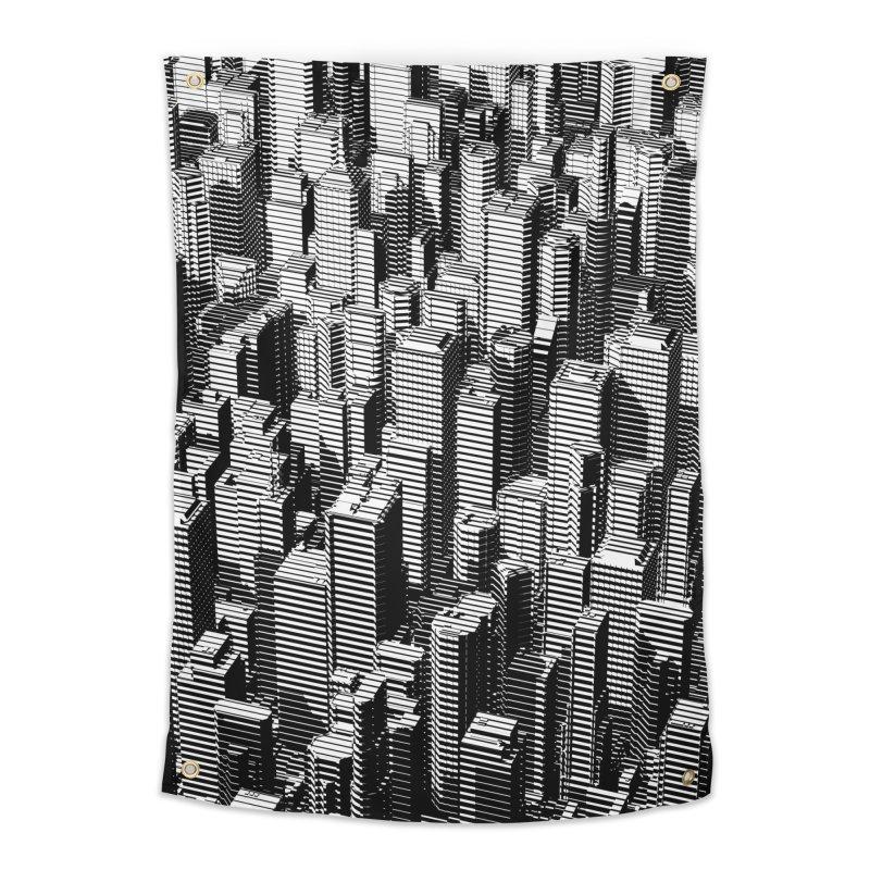 Urban Lines B&W Home Tapestry by Grandio Design Artist Shop