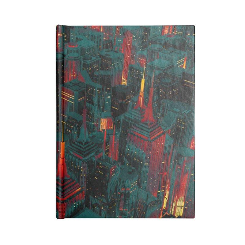 Night City Glow Cartoon Accessories Notebook by Grandio Design Artist Shop