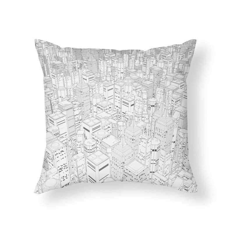 Metropolis Home Throw Pillow by Grandio Design Artist Shop