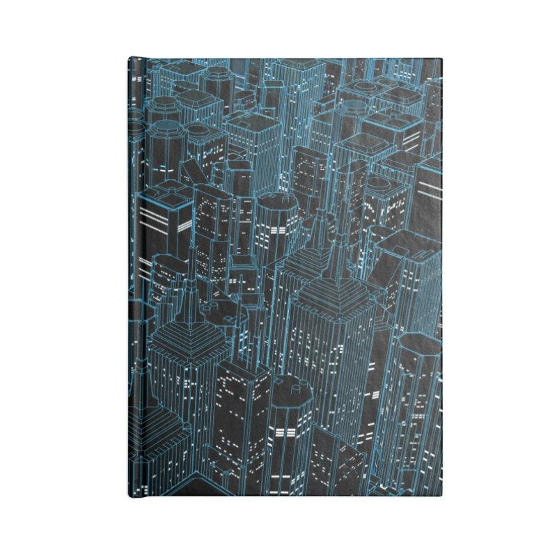 Night Light City Accessories Notebook by Grandio Design Artist Shop