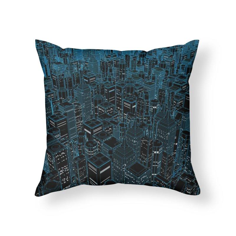 Night Light City Home Throw Pillow by Grandio Design Artist Shop