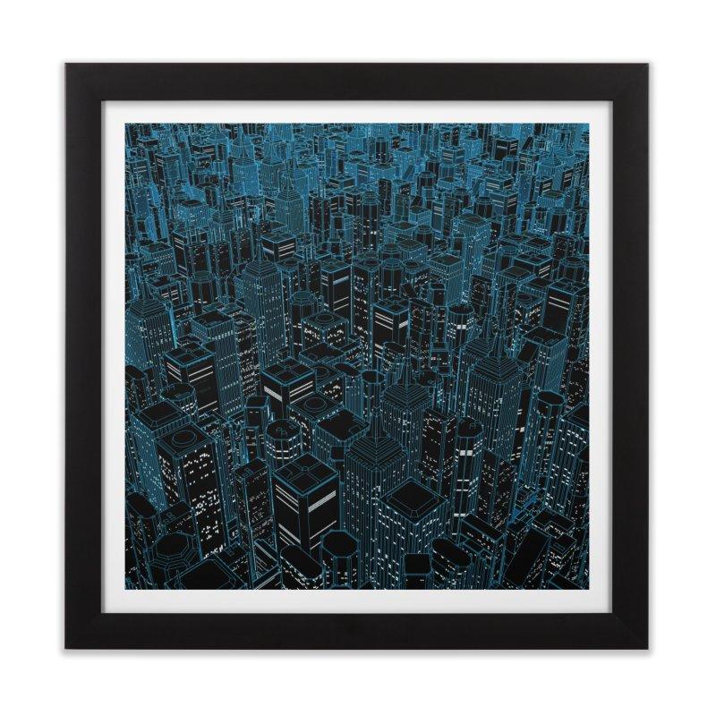 Night Light City Home Framed Fine Art Print by Grandio Design Artist Shop