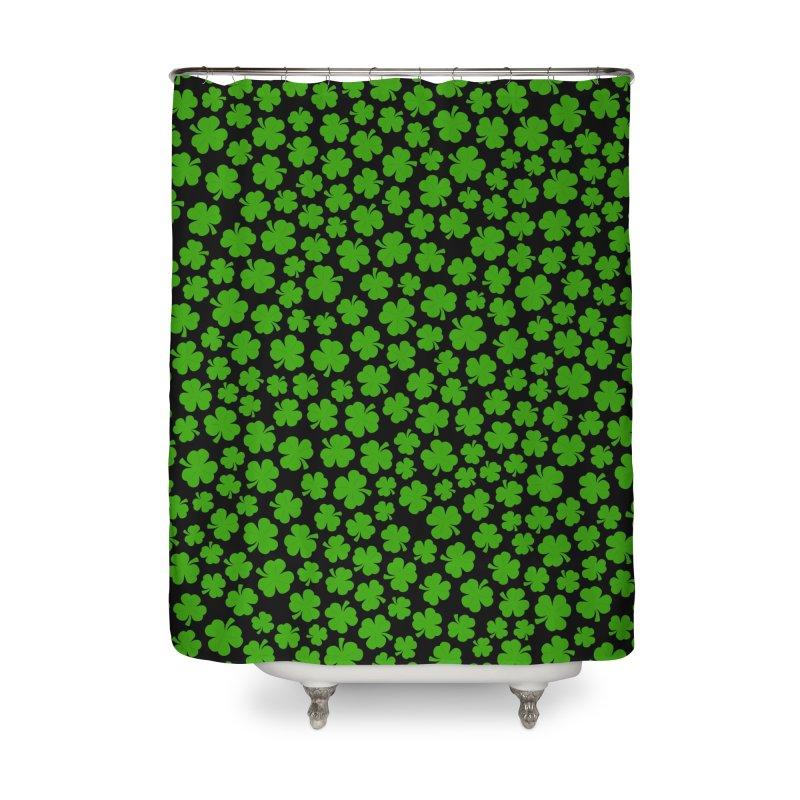 Shamrockadelic II Home Shower Curtain by Grandio Design Artist Shop