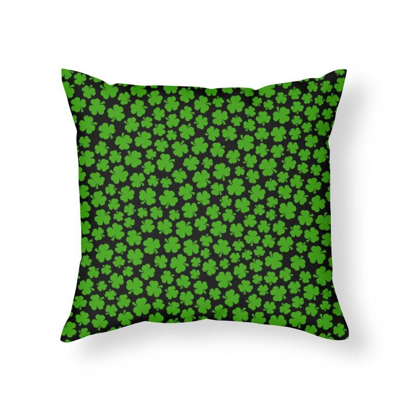 Shamrockadelic II Home Throw Pillow by Grandio Design Artist Shop
