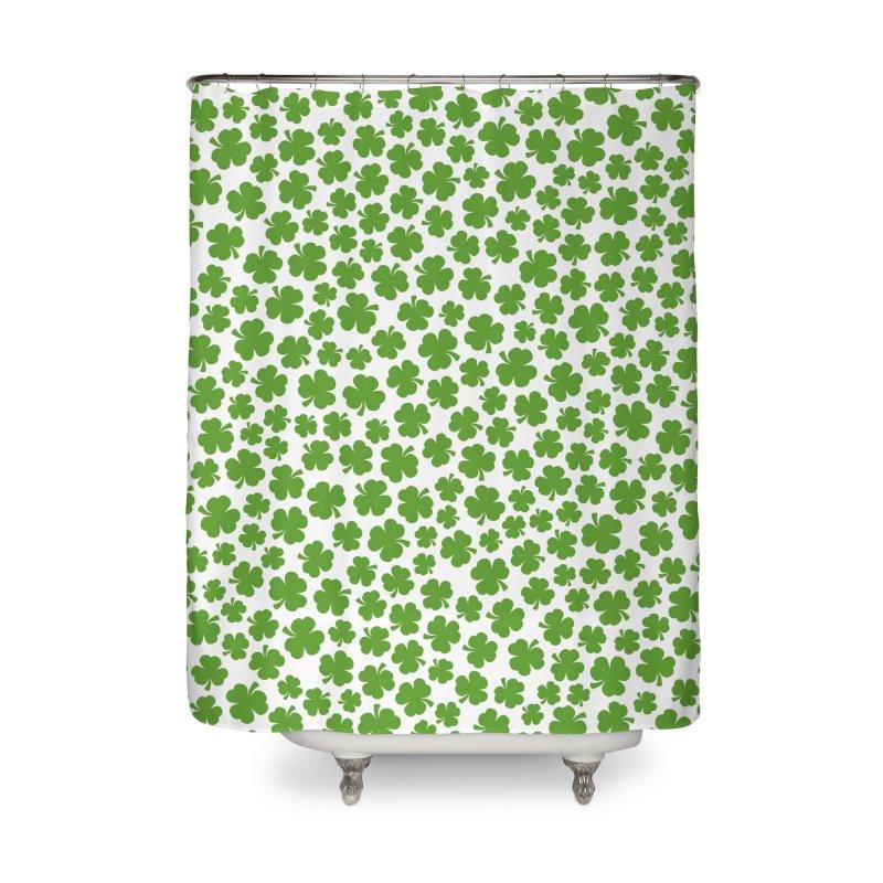 Shamrockadelic Home Shower Curtain by Grandio Design Artist Shop