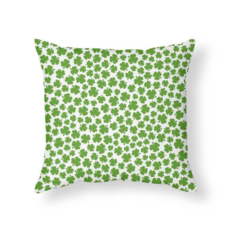 Shamrockadelic Home Throw Pillow by Grandio Design Artist Shop