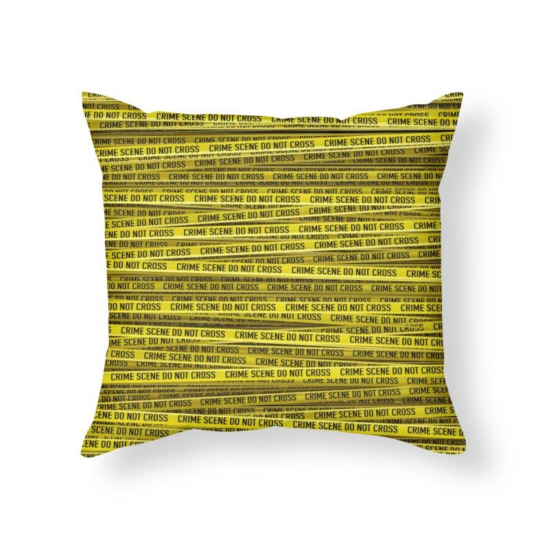 Crime Scene Home Throw Pillow by Grandio Design Artist Shop