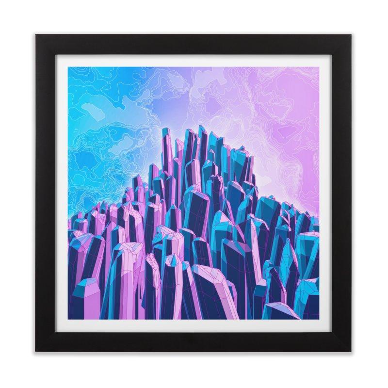 Crystal Peak Home Framed Fine Art Print by Grandio Design Artist Shop