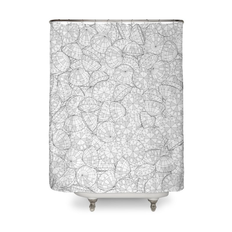 Diamonds Are Forever III Home Shower Curtain by Grandio Design Artist Shop