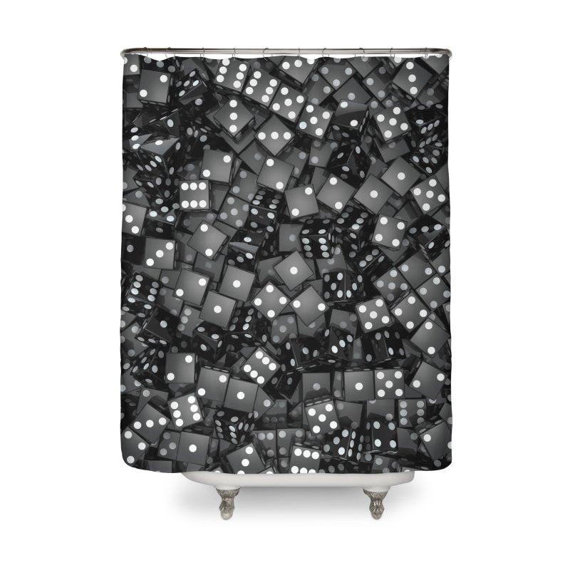 Black Dice Home Shower Curtain by Grandio Design Artist Shop