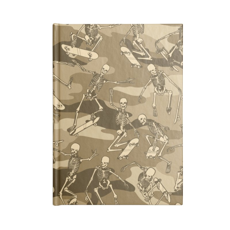 Grim Ripper Skater Camo DESERT Accessories Blank Journal Notebook by Grandio Design Artist Shop