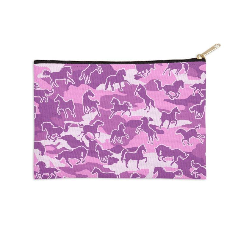 Horse Camo PINK Accessories Zip Pouch by Grandio Design Artist Shop