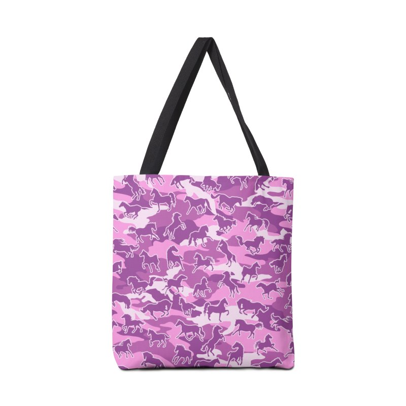 Horse Camo PINK Accessories Tote Bag Bag by Grandio Design Artist Shop