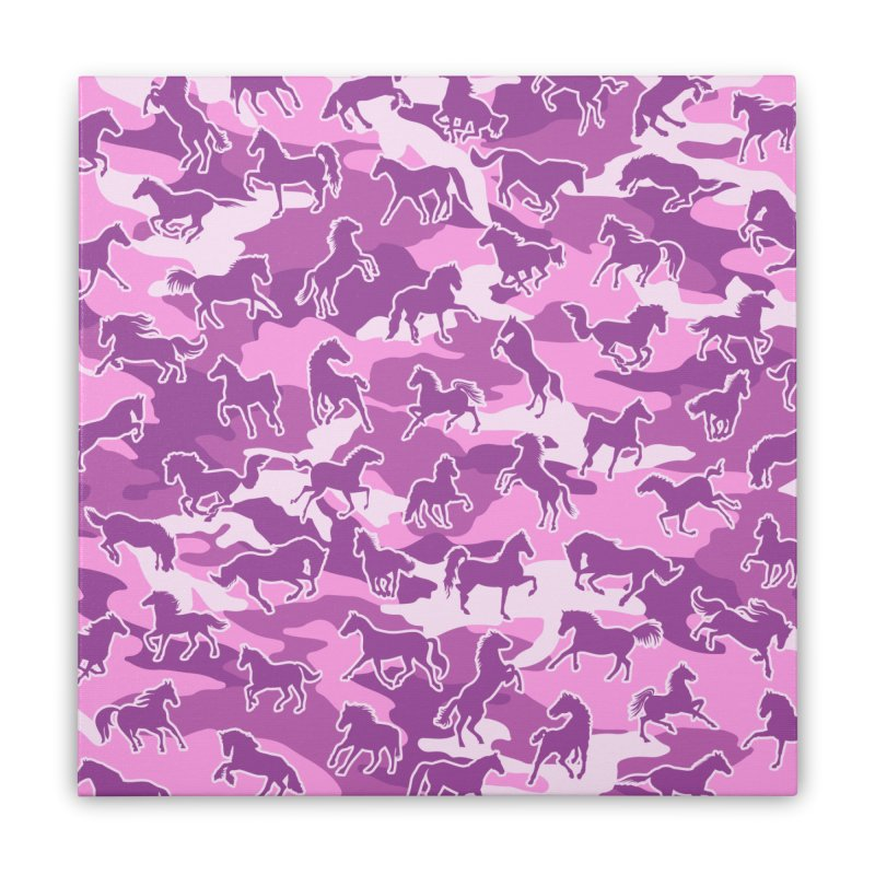 Horse Camo PINK Home Stretched Canvas by Grandio Design Artist Shop