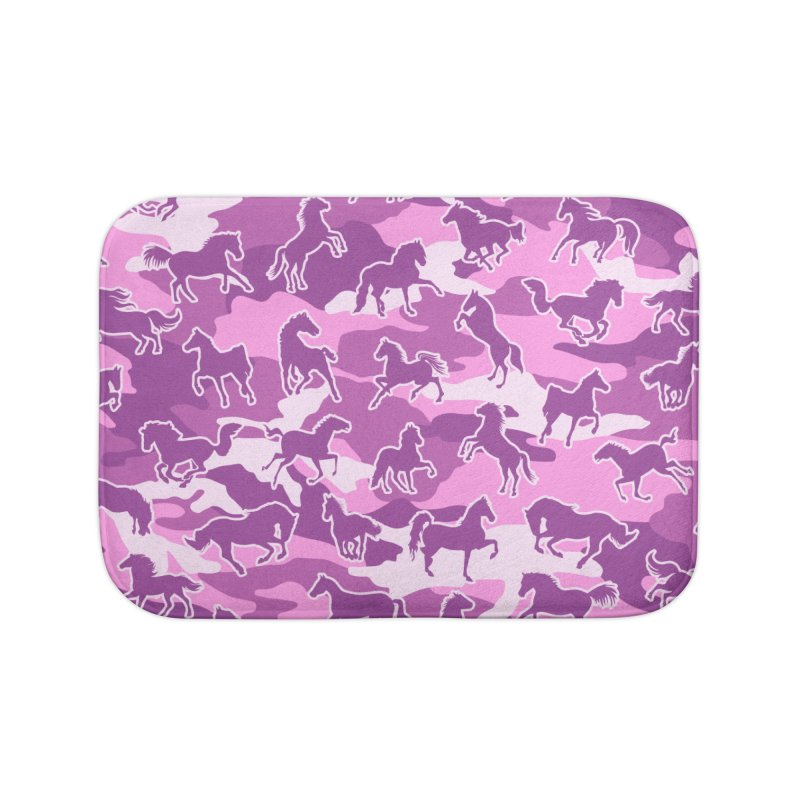 Horse Camo PINK Home Bath Mat by Grandio Design Artist Shop