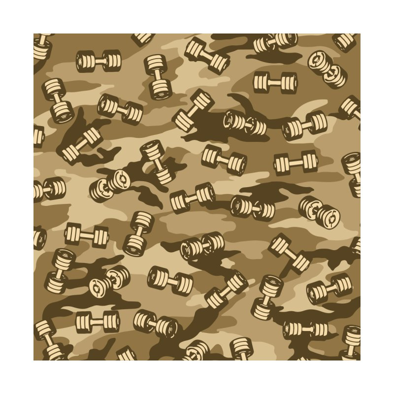 Dumbbell Gym Camo DESERT by Grandio Design Artist Shop