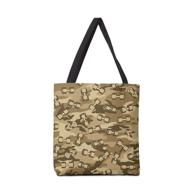Dumbbell Gym Camo DESERT Accessories Tote Bag Bag by Grandio Design Artist Shop