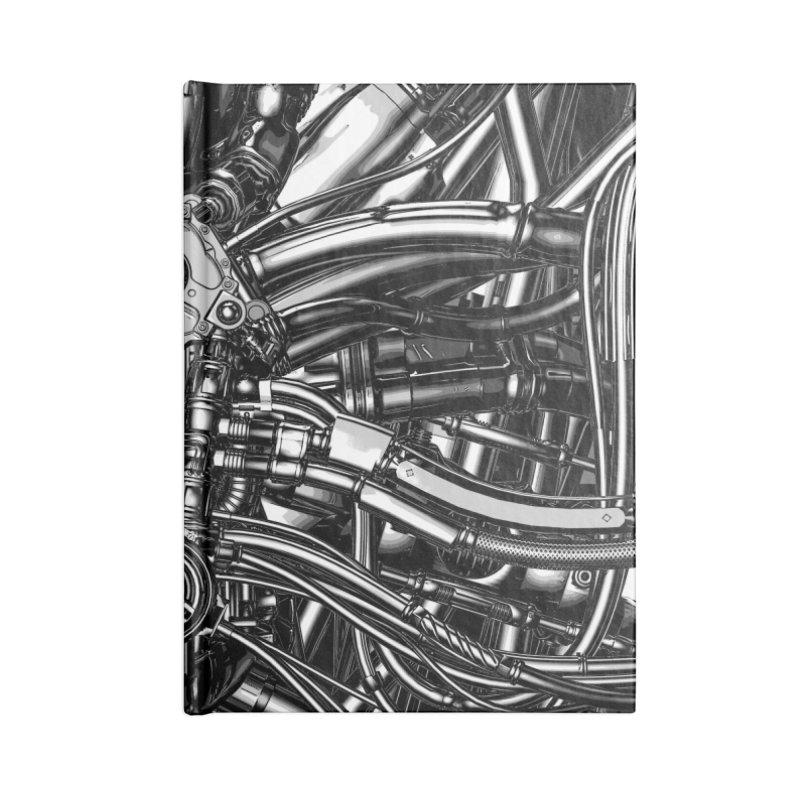 The Machine Accessories Lined Journal Notebook by Grandio Design Artist Shop