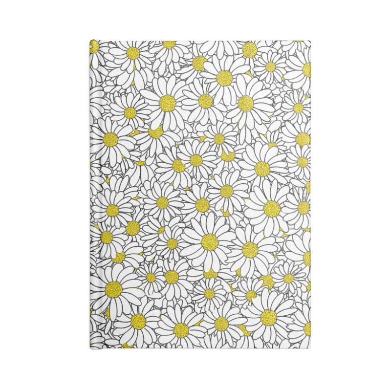 Daisy Doodle Pattern Accessories Lined Journal Notebook by Grandio Design Artist Shop