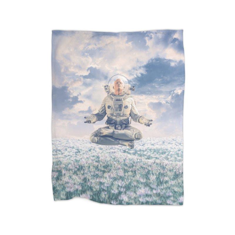 Dreamer In The Field Home Fleece Blanket Blanket by Grandio Design Artist Shop