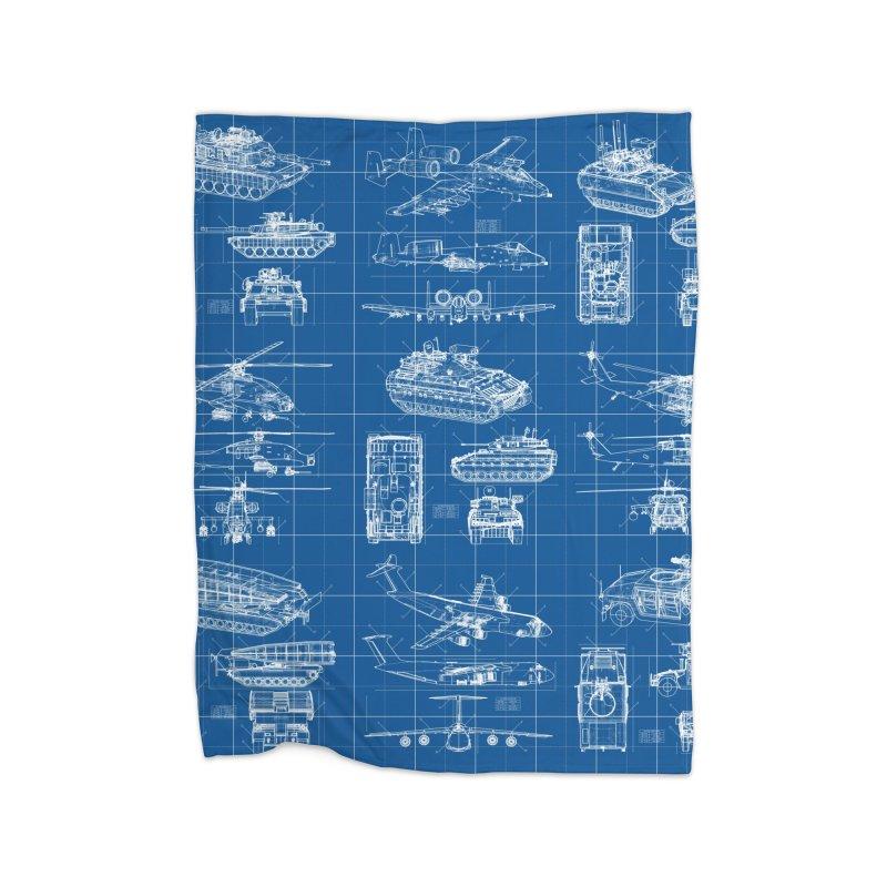 Classified Home Fleece Blanket Blanket by Grandio Design Artist Shop