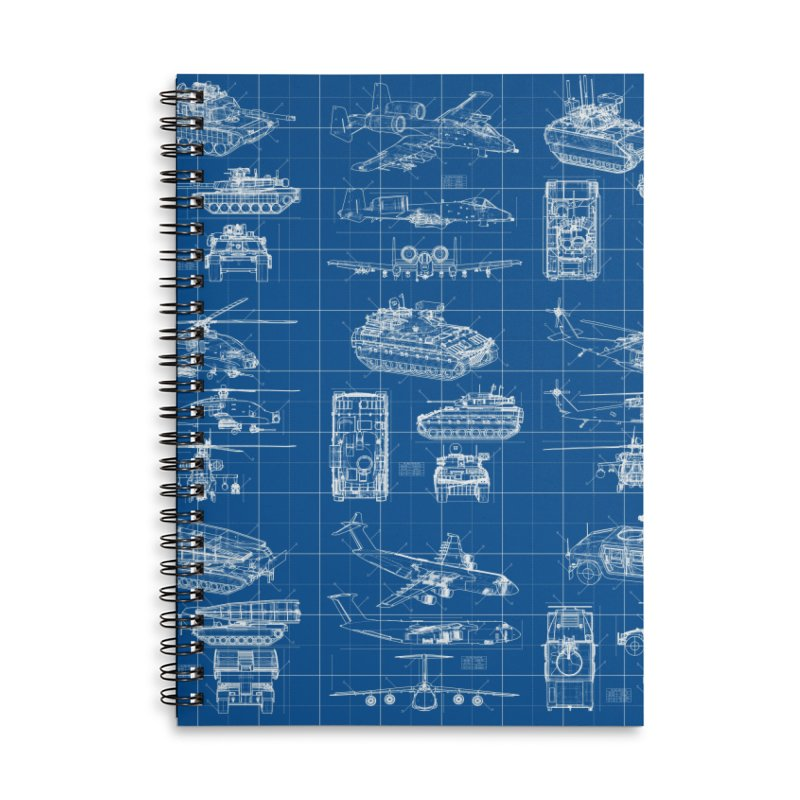 Classified Accessories Lined Spiral Notebook by Grandio Design Artist Shop