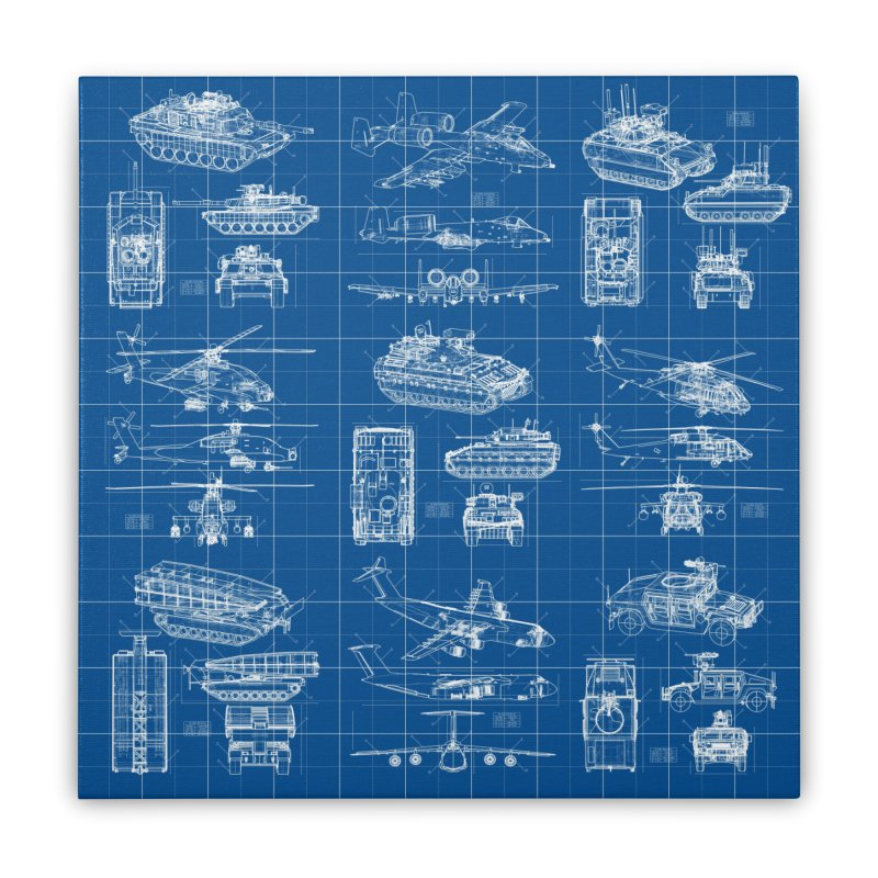 Classified Home Stretched Canvas by Grandio Design Artist Shop
