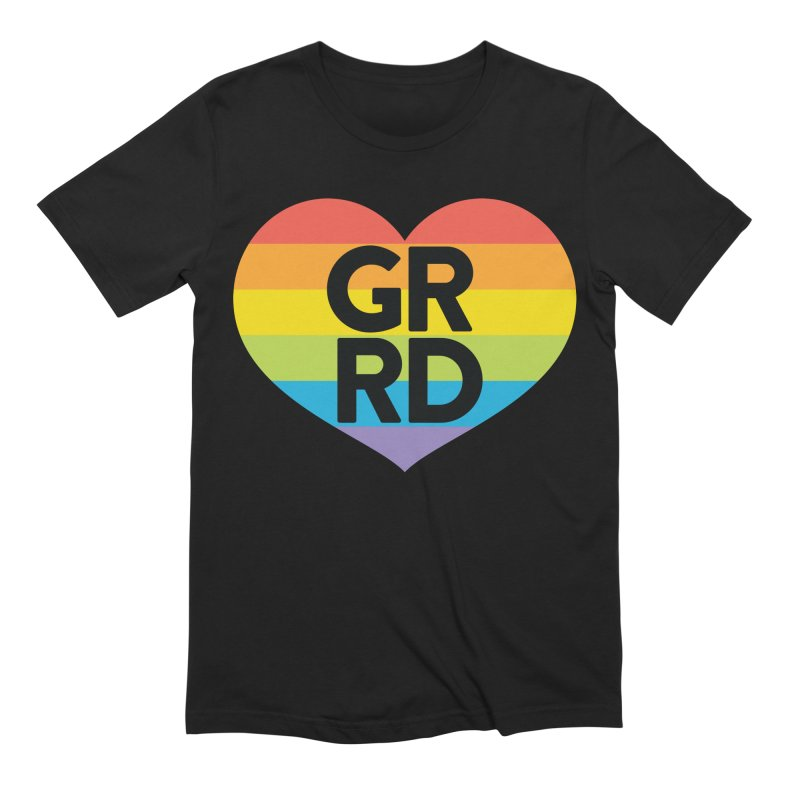 GRRD Pride Men's Extra Soft T-Shirt by Grand Raggidy Roller Derby