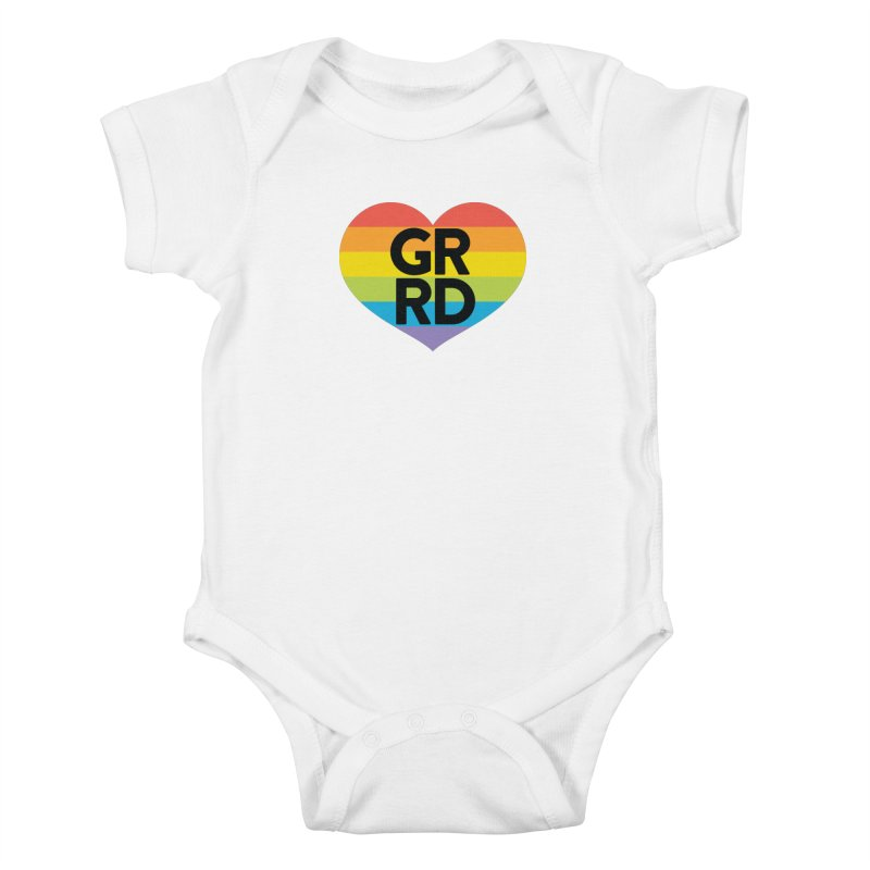 GRRD Pride Kids Baby Bodysuit by Grand Raggidy Roller Derby